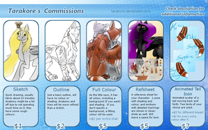 Commission Info - CLOSED FOR NOW by Tarakore