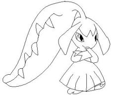 Mawile Lineart 1 by Anime-Bases-Free