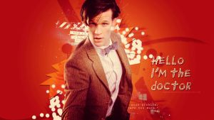 The eleventh Doctor Wallpaper 2 by HappinessIsMusic
