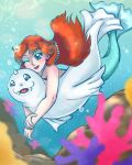 Misty and Dewgong by Nine-Tailed-Fox