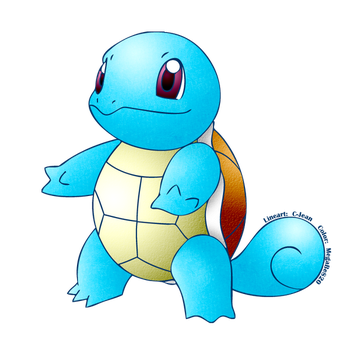 Pocket Monsters:  SQUIRTLE LineArt Vector by MegaBe820