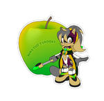 Comm.Food Sticker. Nina the Tanooki by 13VOin