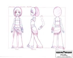 Thrynity Model Sheet. by DoubleCluepon