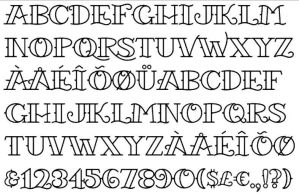 tattoo font 3 by Starvampire
