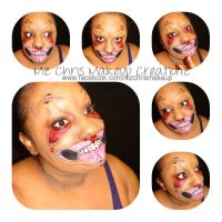 Pulled Skin Happy Face makeup by MzChrisCreatez