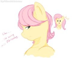 MLP: How Fluttershy sees Butterscotch by NolyCS