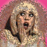 Scream photo mosaic by Mosaikify