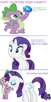 valentine spike and rarity by Daring-danger-do