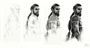 Khal Drogo in four simply steps :D by OrgitaSucubita