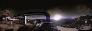 ME2 Arrival panorama by MichaWha