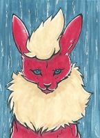 Flareon ACEO by Vhalesa