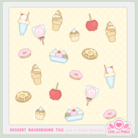 Pixel - Dessertalicious BG Tile by firstfear
