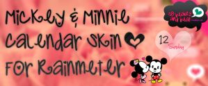 Mickey And Minnie Calendar Skin For Rainmeter by SoBeautyAndBeat