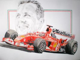 ferrari F1 schumacher tribute by domrexsin
