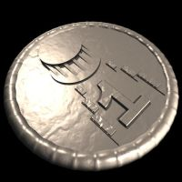[Game Art] Platinum Coin by TheCuriousKit