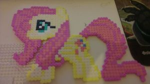 MLP Fluttershy Complete in Hama beads by Laggingpepper