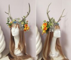Summer Solstice Headdress by Lillyxandra