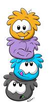Puffle Stack by Hidden-Rainbows