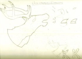 Caribou Mascot Logo Sketch by abiogenic