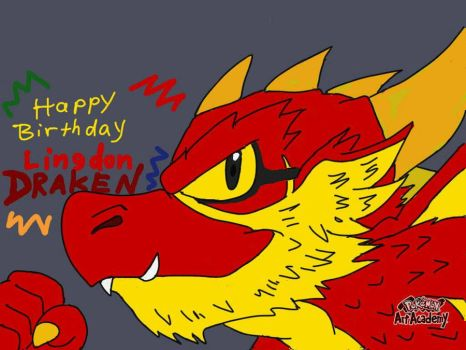 A birthday dragon art for Lingon by Terrix250