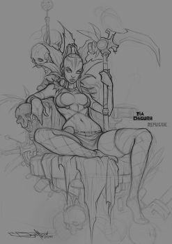 Tia Chigurh sketch by Boris-Dyatlov
