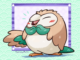 Rowlet - 001 by The-Spikey-Mouth