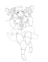 Tomoe Mami - lineart free to colour! by Hitomi97
