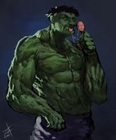The incredibly stupid Hulk by Zedig