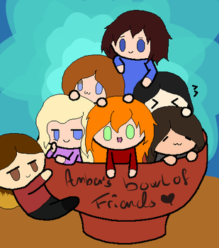 Amber's Bowl Of Friends by LoveHunter159