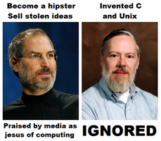 Dennis Ritchie and Steve Jobs by deathvocals