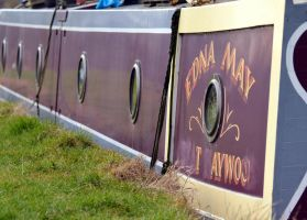Narrow boat windows by Mark-Allison