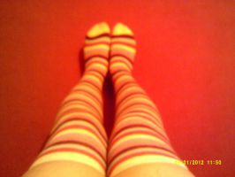 Striped Socks. by l3utts