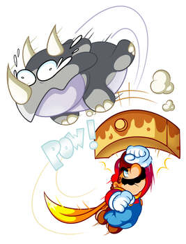 Commission - Mario vs Reznor by JamesmanTheRegenold