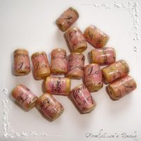 'Forever Love' paper beads by AmeliaLune