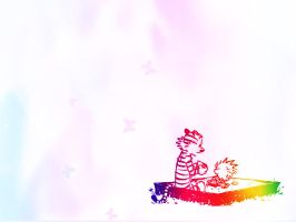 Calvin and Hobbes Wallpaper by Gallifery