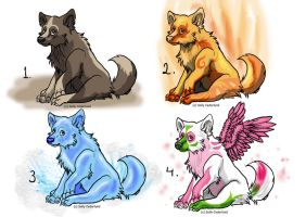 Element puppy adopts! :D by Sally-Ce