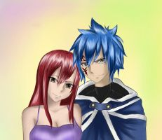 Jellal and Erza by nastya98