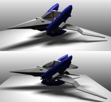 Arwing preliminary renders by nejinoki