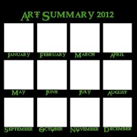 2012 Art Summary Meme blank by FadedDreams5