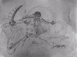 Zoro sketch by Deathknight-X