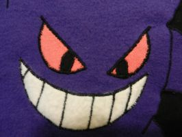 Gengar pillowcase close up by Tamtea