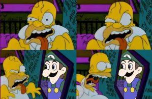 Homer Meets Weegee by Knuckles2nd