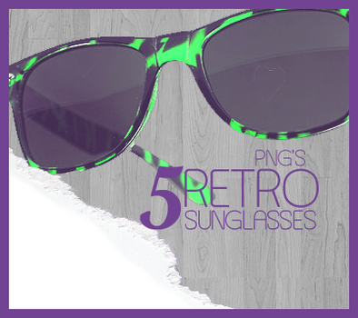 PNG's: Retro Sunglasses by 11GabyCool11