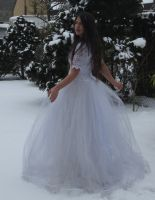 White dress in Snow Stock 7 by NaomiFan