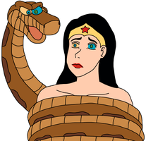 Kaa and Wonder Woman by imaginaria2