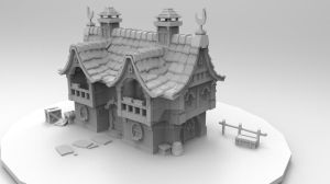 3D Work - House WIP by SarcasticBrit