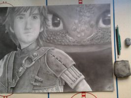 Hiccup and Toothless (HTTYD 2) by McMoonTLoZ