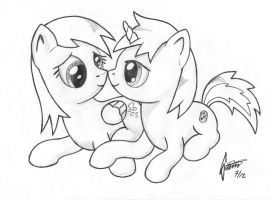 Request: Derpy and Seven-up by Snetri