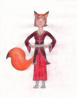 Red Fox Girl by LaDeary