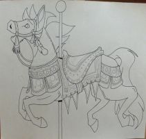 Carousel Horse Komico lineart by KM-cowgirl